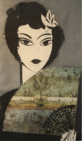 Mujer con abanico II Pompei